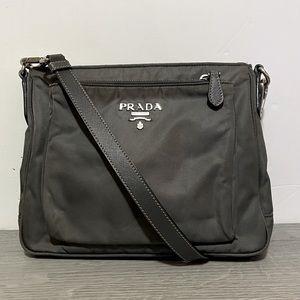 PRADA Nylon Gray crossbody Bag